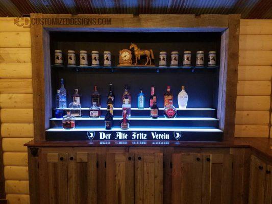 German Themed Home Bar Display