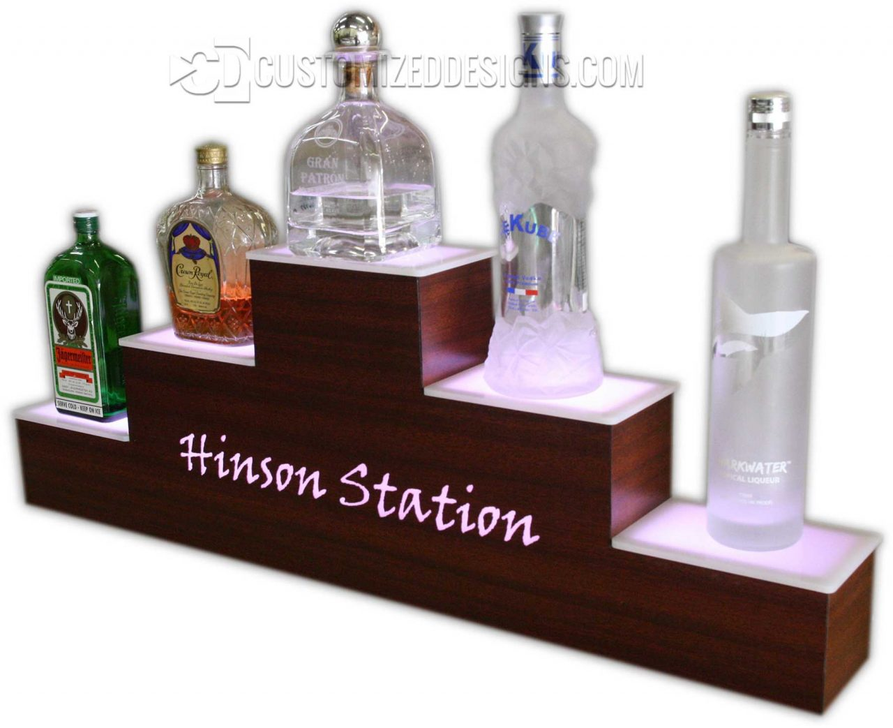 Hinson Station Pyramid Style Bottle Display