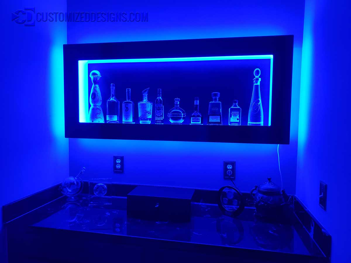 Home Bar Wall Shelving Unit