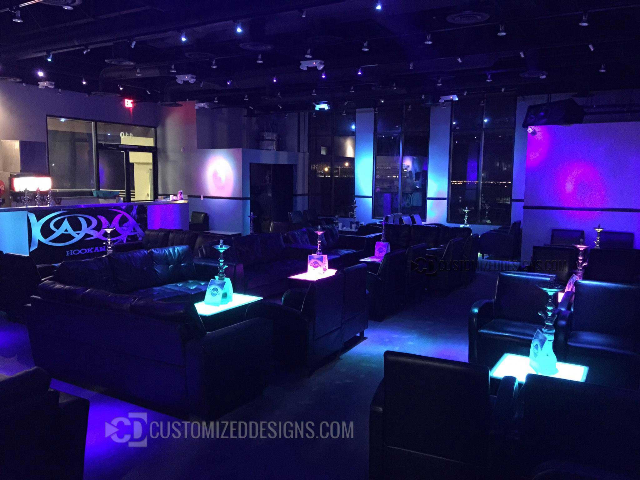 Led Hookah Tables Lounge