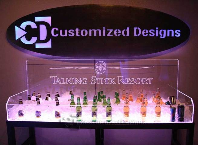 LED Lighted Ice Bin Beverage Display