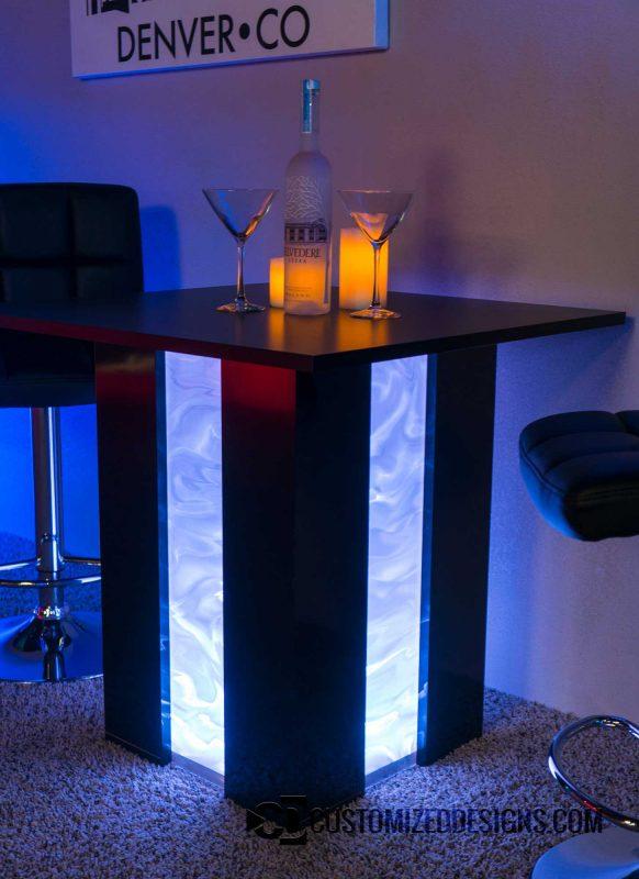 Mirage LED Table Shown w/ Illusion Option