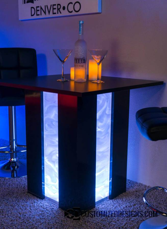 Mirage LED Table Shown w/ Illusion Option