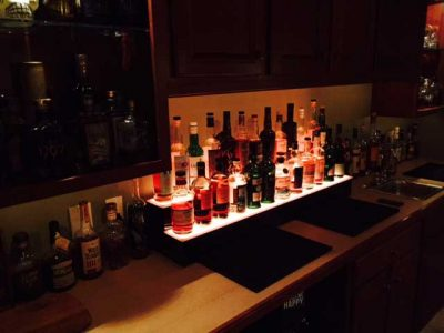 2 Step LED Lighted Liquor Displays