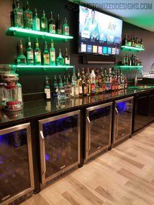 LED Back Bar Shelving