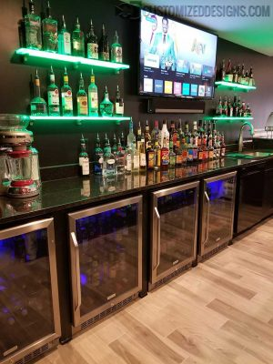 LED Back Bar Shelving
