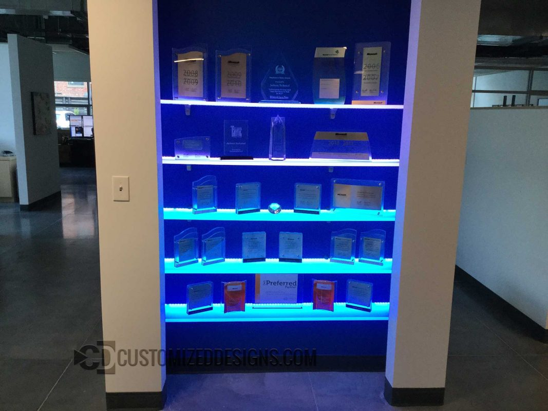 LED Shelving Corporate Award Display