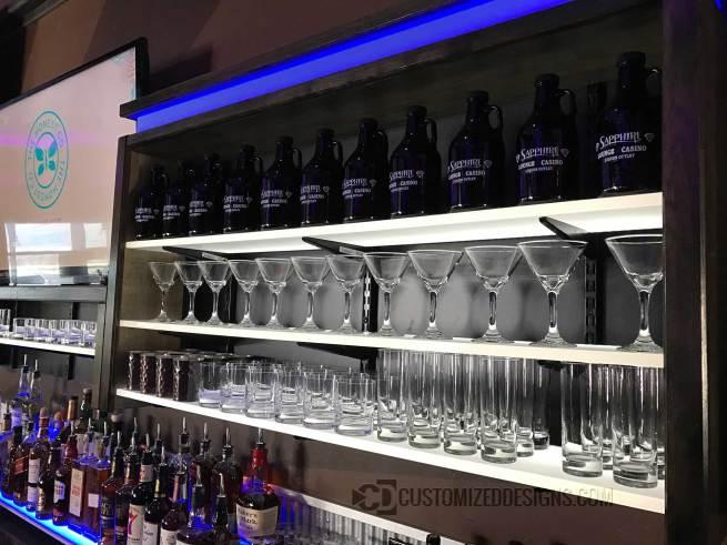 Custom LED Shelves