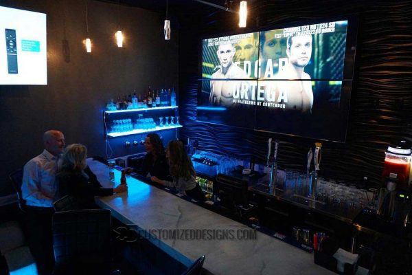 Sports Bar LED Shelving