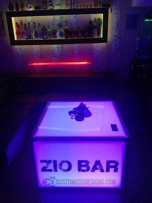 Lighted Wall Display Shelving & Modular Table