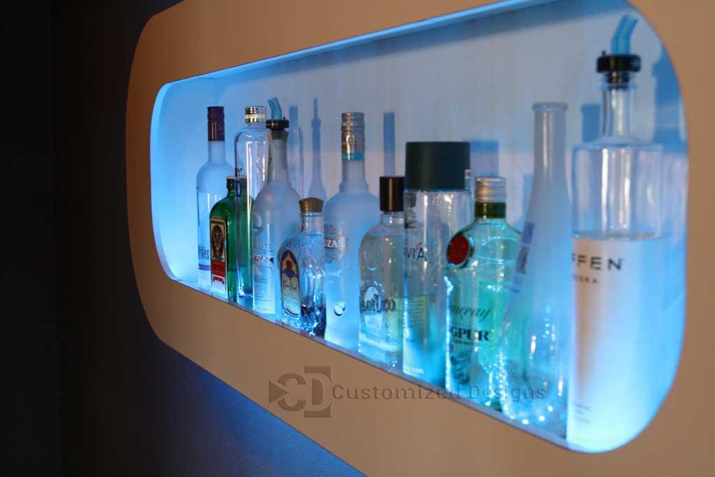 LED Lighted Wall Shelving Display