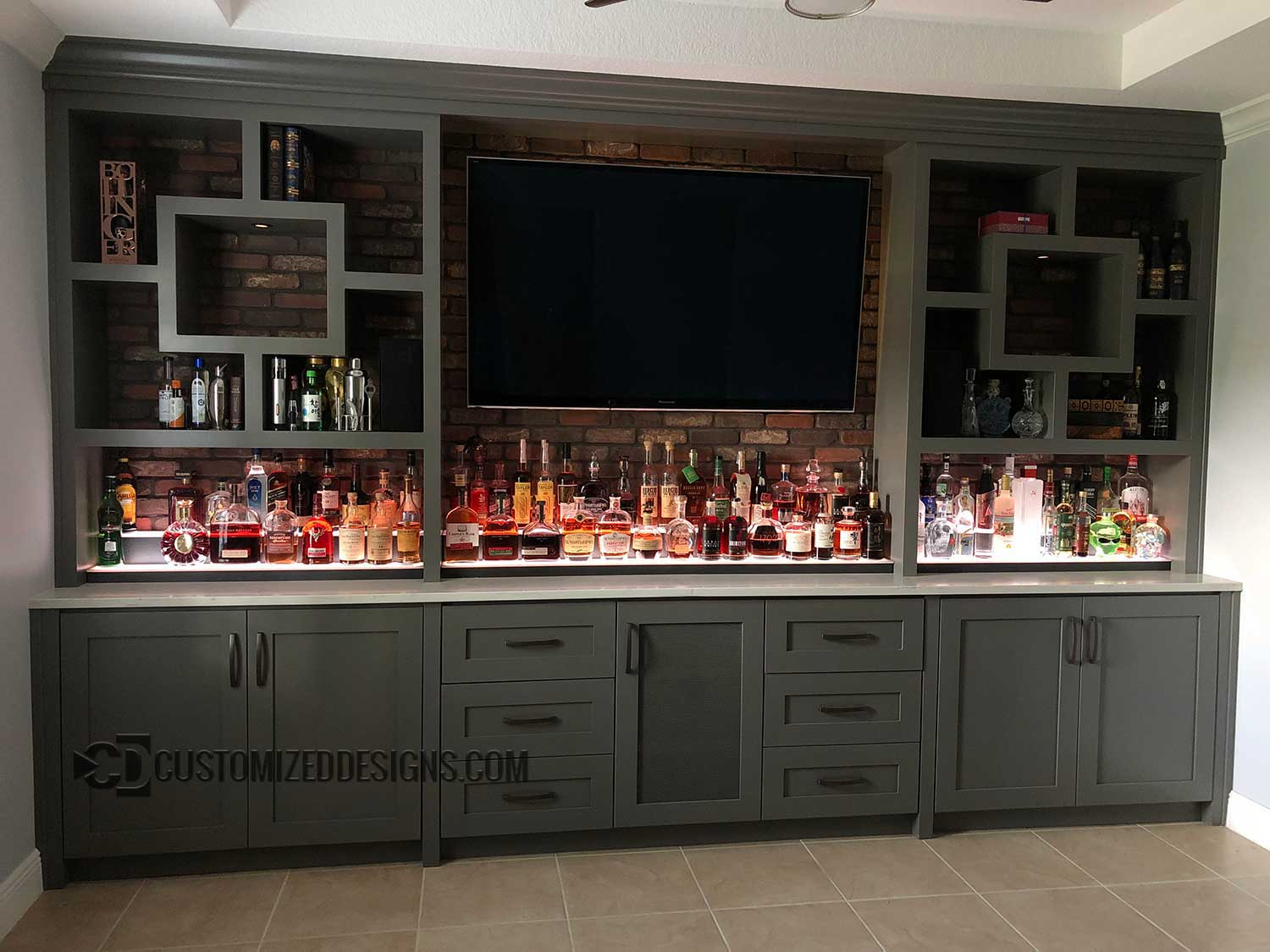 Low Profile Liquor Shelves Customizeddesigns Com