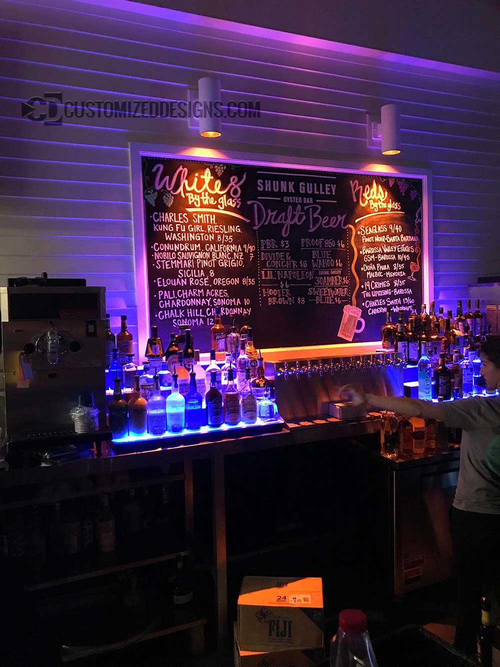 Low Profile Liquor Shelves