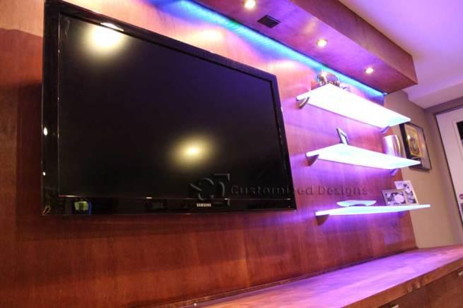 DIY Network Mancaves LED Shelving