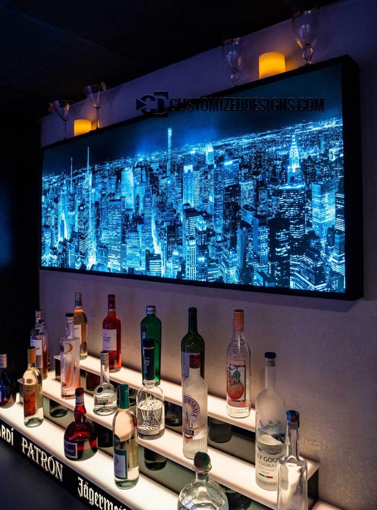 Manhattan Cityscape w/ Blue Lighting