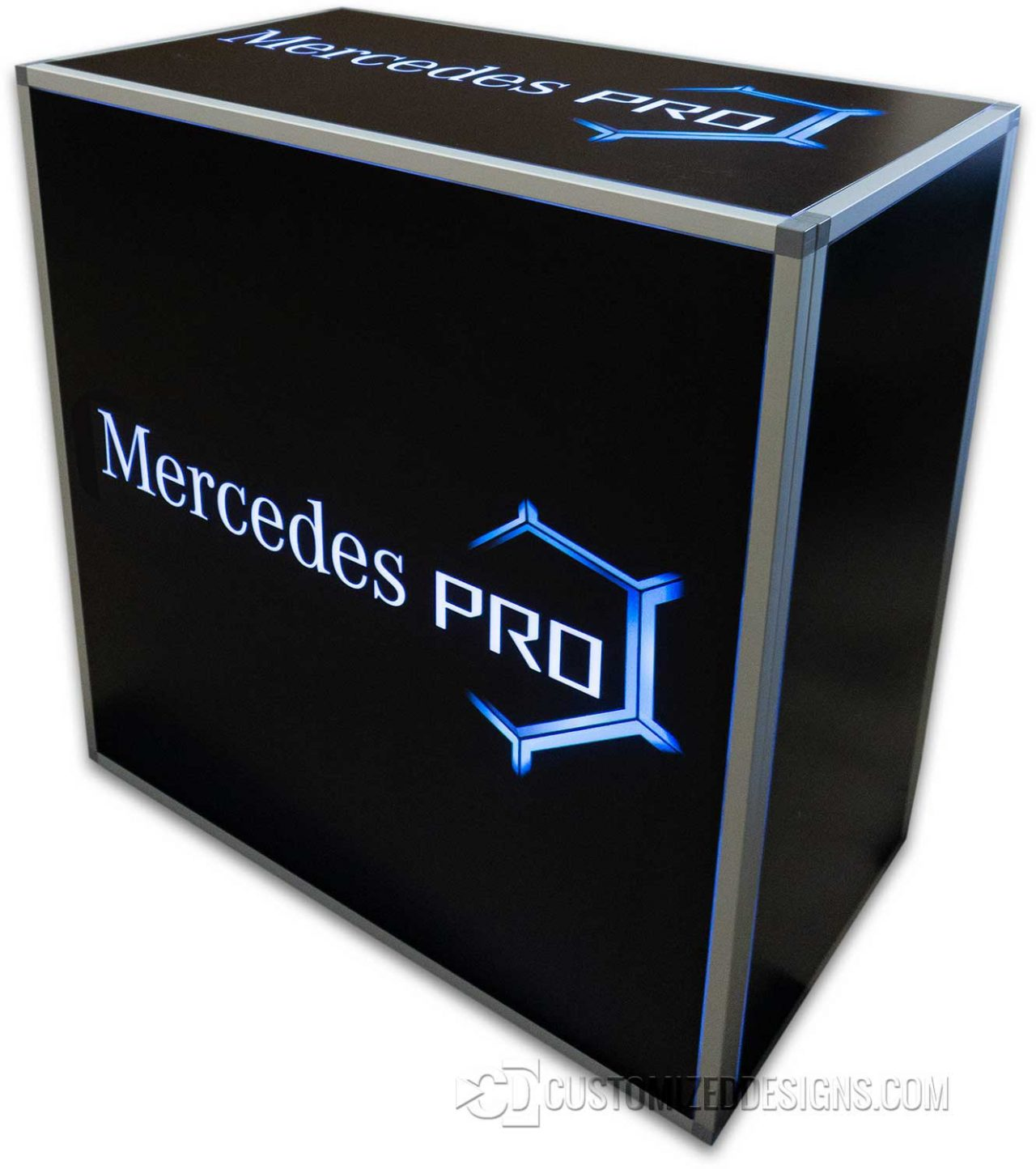 42x24x42 Element Modular Table - Mercedes Benz Logo