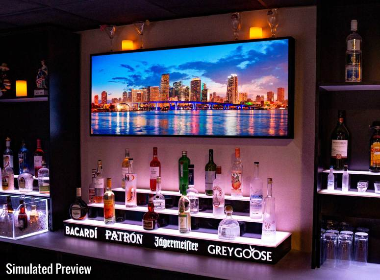 Miami LED Lighted Skyline