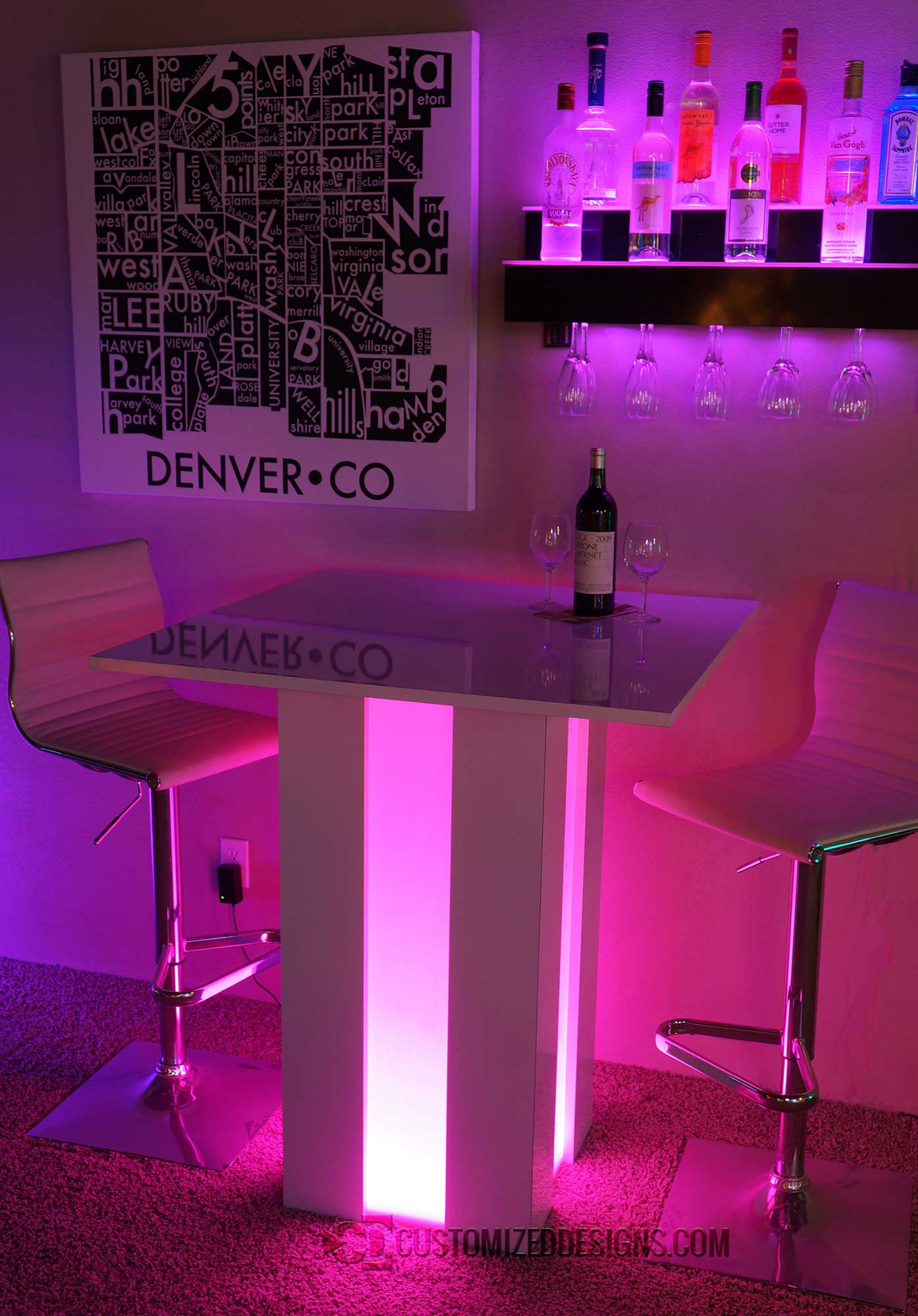 Mirage Illuminated Lounge Table