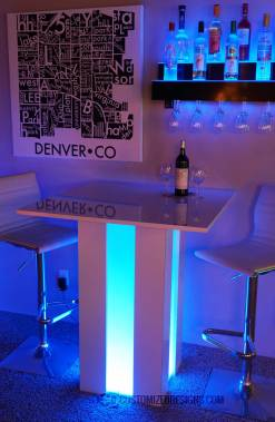 Mirage Lighted Cocktail Table