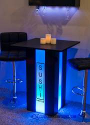 Mirage LED Lighted Table - Sushi Logo