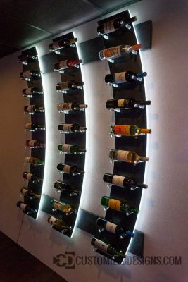 Modern Lighted Wine Bottle Rack