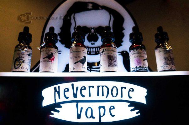 Nevermore Vape Bottle Display