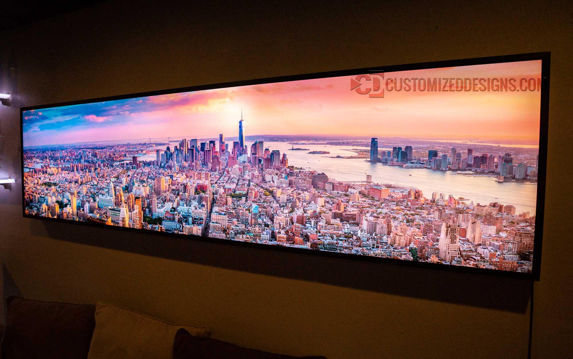 New York City Manhattan Back Lit LED Wall Art