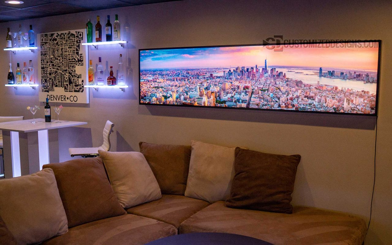 New York City LED Lighted Wall Art