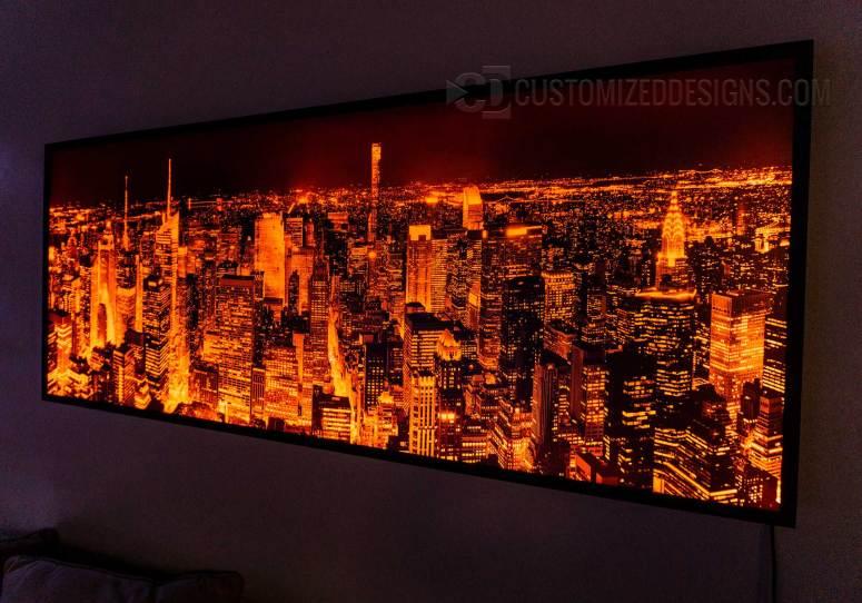 New York City Wall Art - Orange Lighting