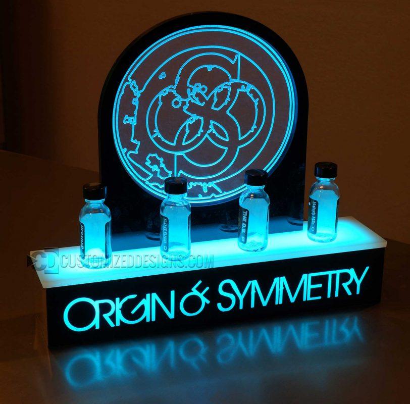 Origin of Symmetry Vape E-Liquid Display w/ Custom Edge Lit Panel