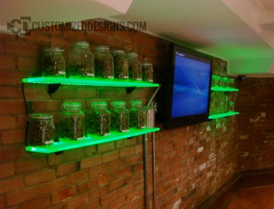 Pot Cannabis Jar Display Shelves