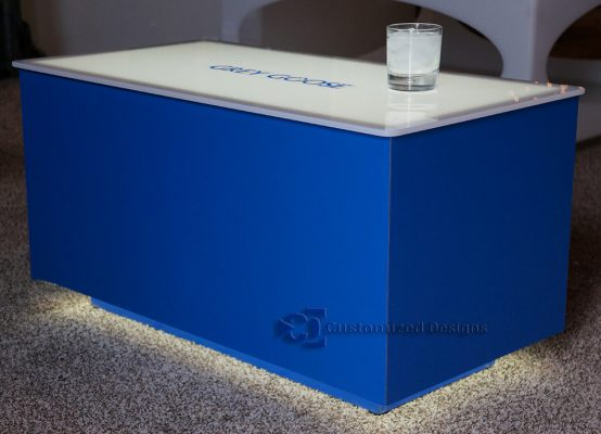 Cubix LED Coffee Table w/ Blue Finish