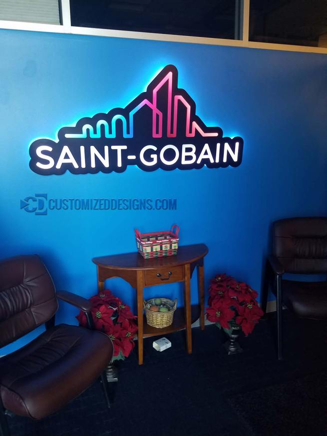 Saint Gobain Backlit LED Sign