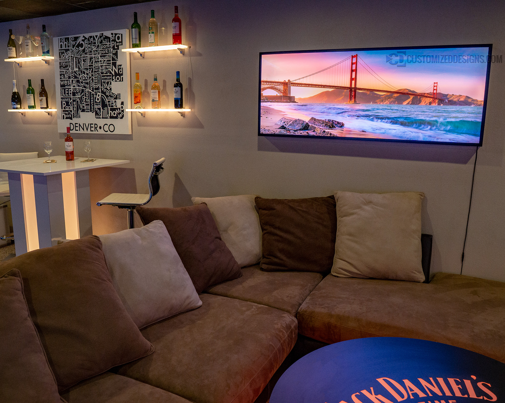 San Francisco Golden Gate Bridge Lighted Picture