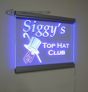LED Edge Lit Sign