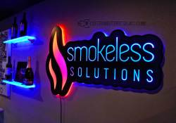 Smokeless Vapor Backlit Sign - Shown w/ Dual Zone Lighting