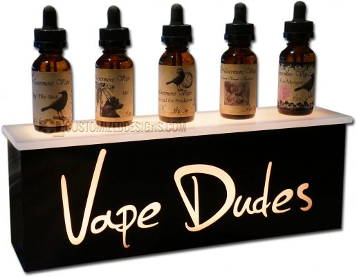 Vape Dudes E-Liquid Display