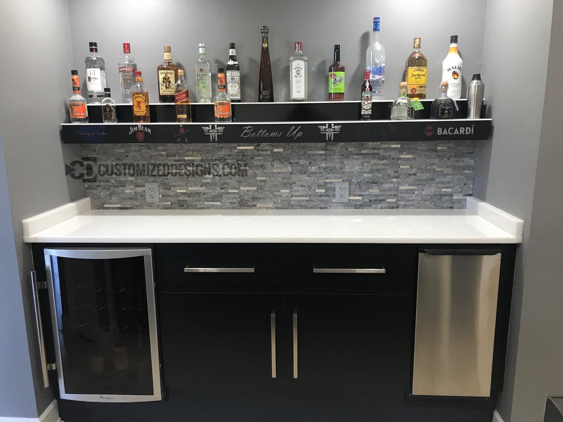 Led Lighted Liquor Shelves Amp Illuminated Home Bar Displays