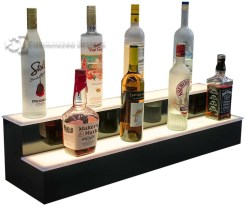 2 Step Lit Bar Display Shelves