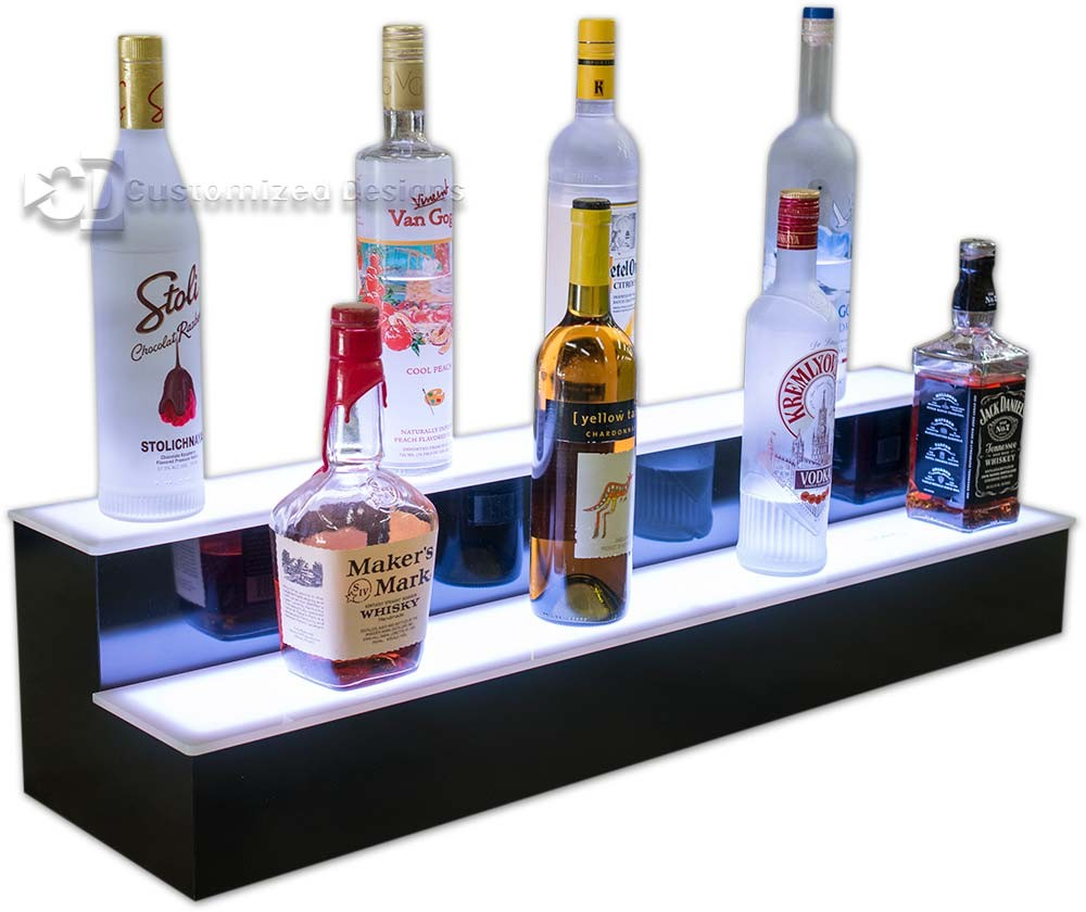 2 Tier Lit Bar Shelving
